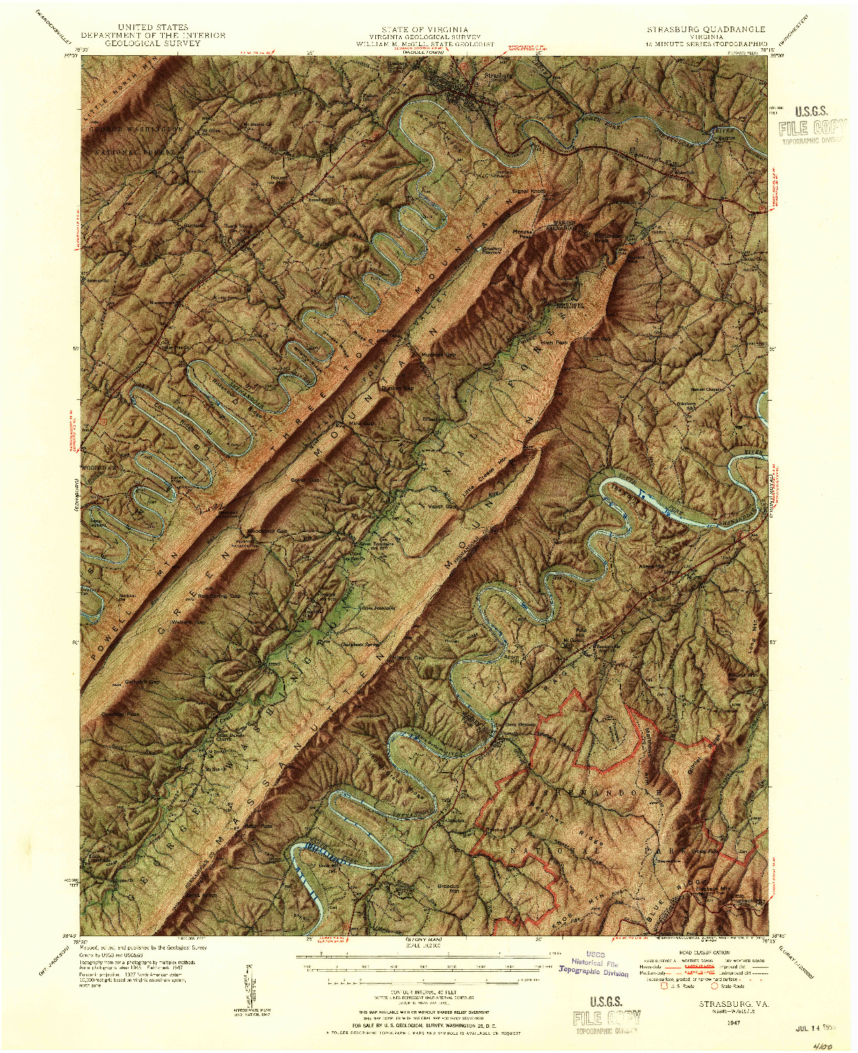 strasburg va map