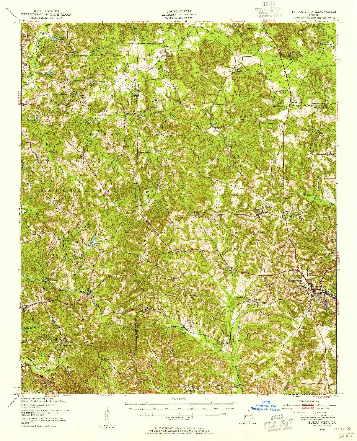 USGS 1:62500-SCALE QUADRANGLE FOR BUENA VISTA, GA 1950