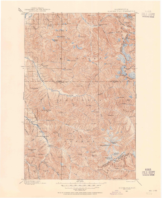 USGS 1:125000-SCALE QUADRANGLE FOR GLACIER PEAK, WA 1899
