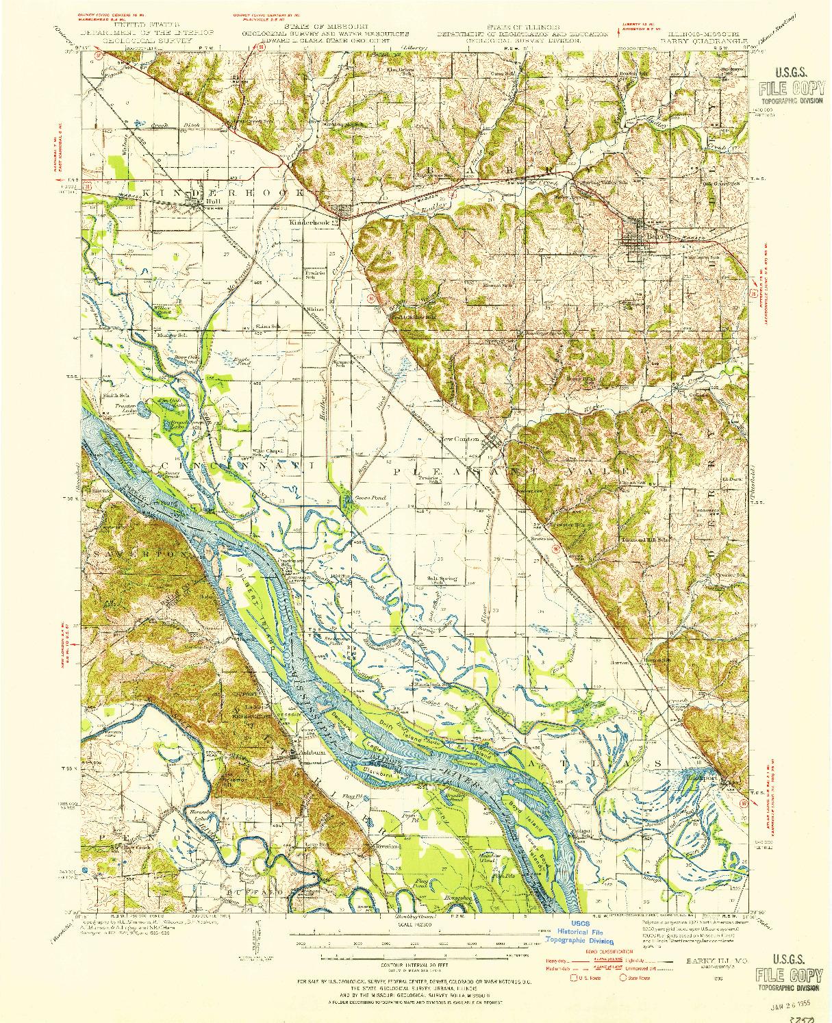 USGS 1:62500-SCALE QUADRANGLE FOR BARRY, IL 1936