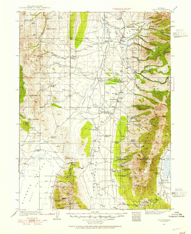 USGS 1:125000-SCALE QUADRANGLE FOR JIGGS, NV 1934