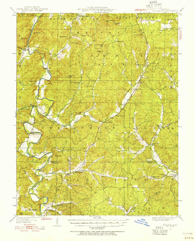 USGS 1:62500-SCALE QUADRANGLE FOR COLDWATER, MO 1949