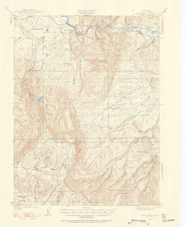 USGS 1:62500-SCALE QUADRANGLE FOR MOUNT HARRIS, CO 1924