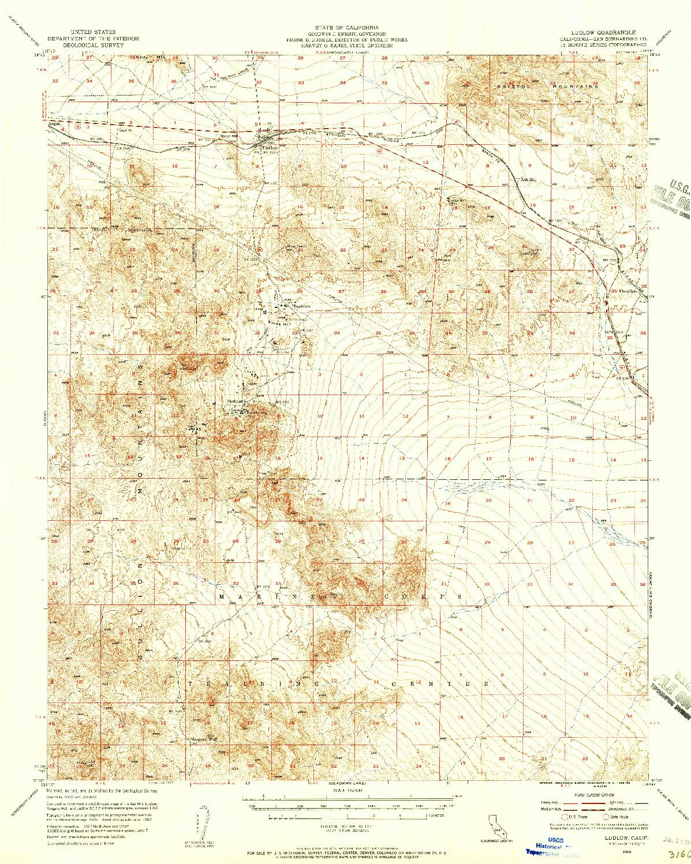 USGS 1:62500-SCALE QUADRANGLE FOR LUDLOW, CA 1955