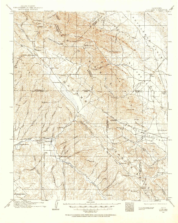 USGS 1:125000-SCALE QUADRANGLE FOR CHOLAME, CA 1915