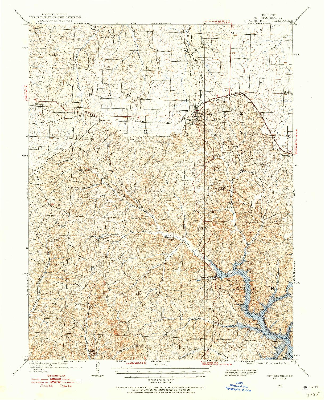 USGS 1:62500-SCALE QUADRANGLE FOR GRAVOIS MILLS, MO 1949