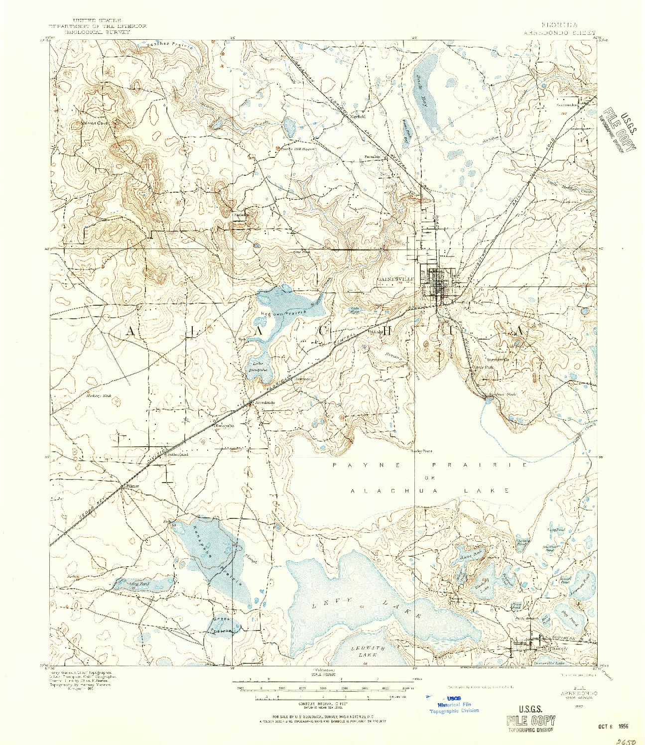 USGS 1:62500-SCALE QUADRANGLE FOR ARREDONDO, FL 1890