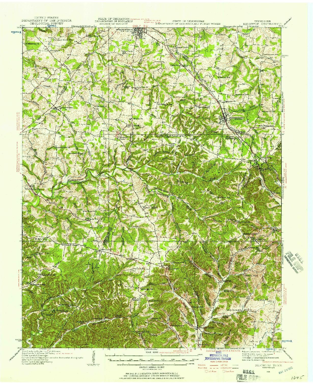 USGS 1:62500-SCALE QUADRANGLE FOR RIDGETOP, TN 1931