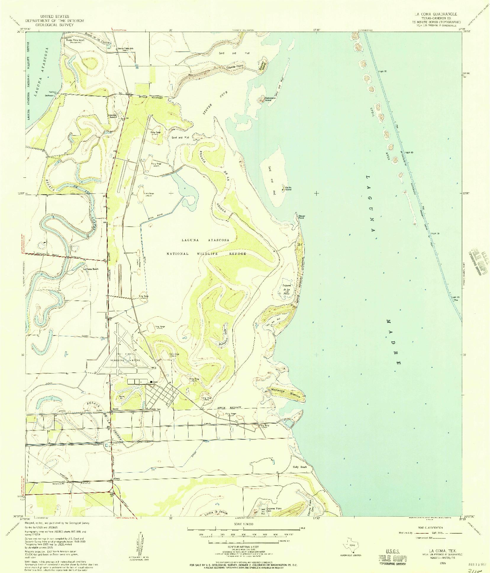 USGS 1:24000-SCALE QUADRANGLE FOR LA COMA, TX 1955