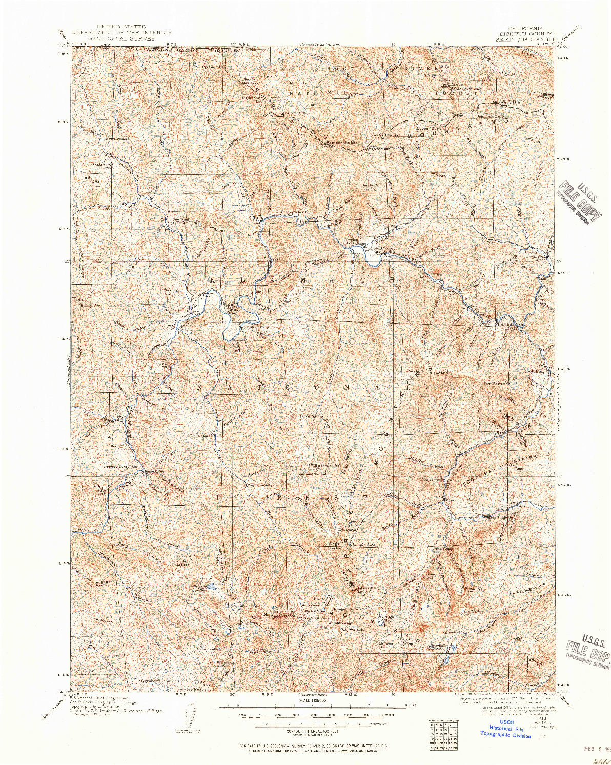 USGS 1:125000-SCALE QUADRANGLE FOR SEIAD, CA 1914