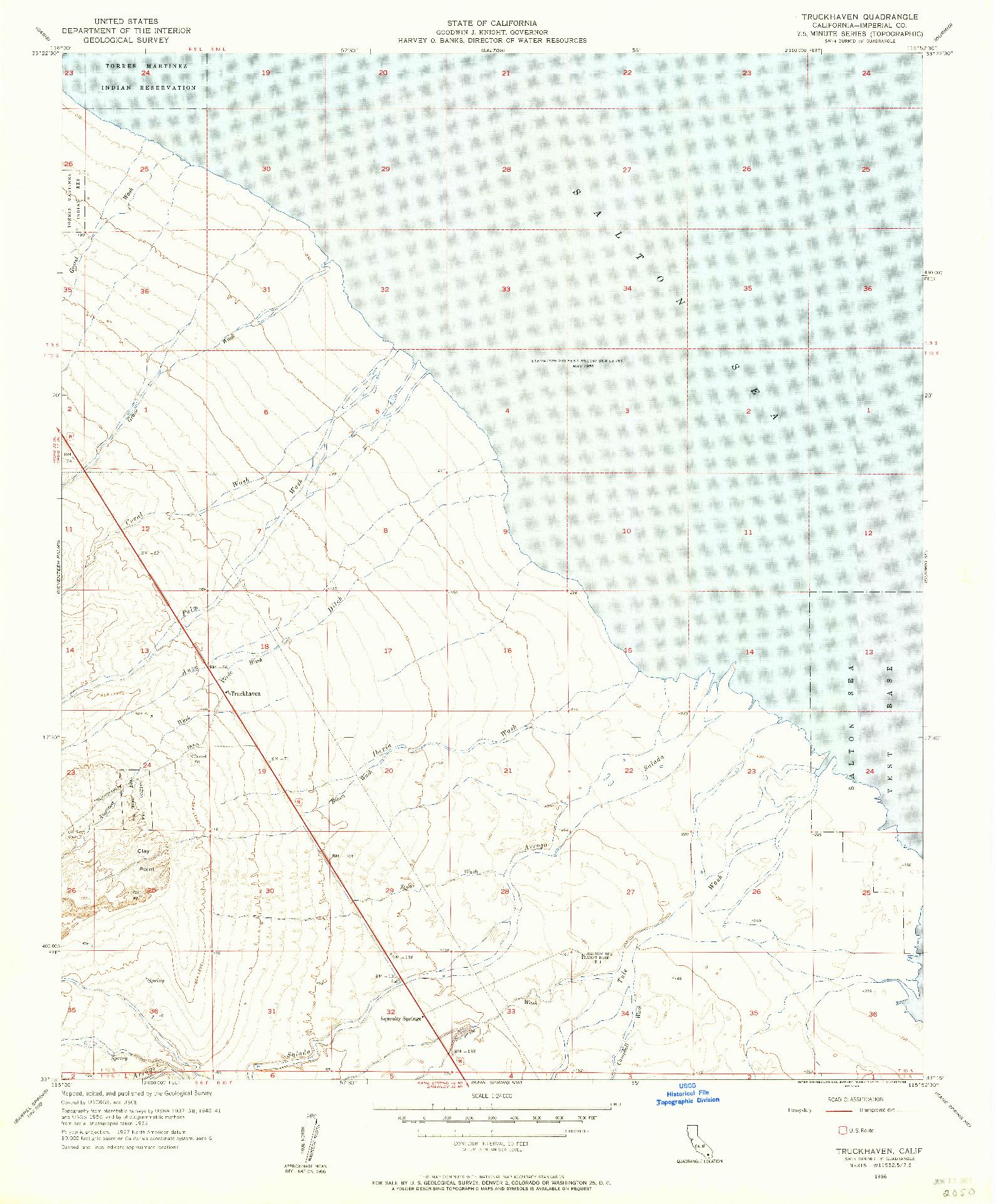 USGS 1:24000-SCALE QUADRANGLE FOR TRUCKHAVEN, CA 1956