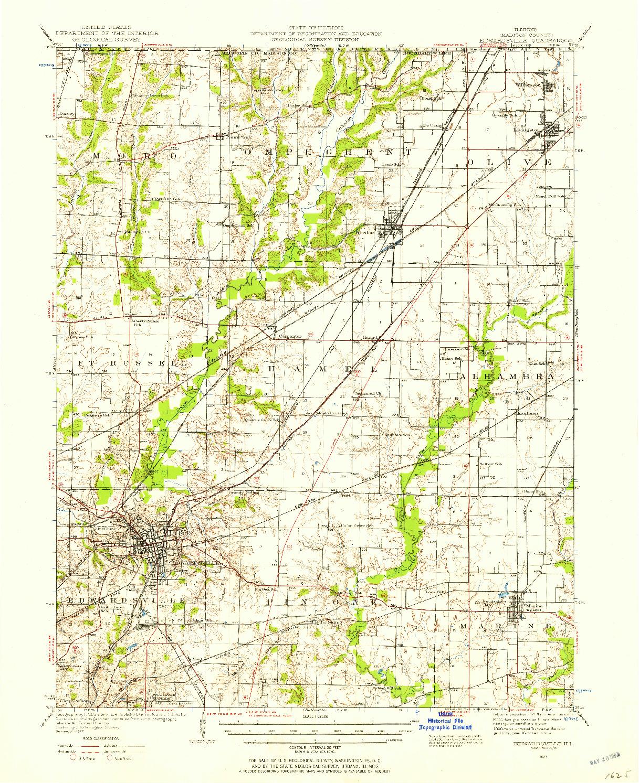 USGS 1:62500-SCALE QUADRANGLE FOR EDWARDSVILLE, IL 1927