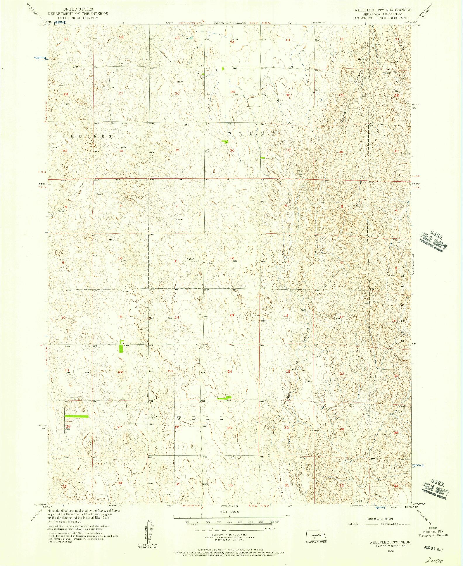 USGS 1:24000-SCALE QUADRANGLE FOR WELLFLEET NW, NE 1956