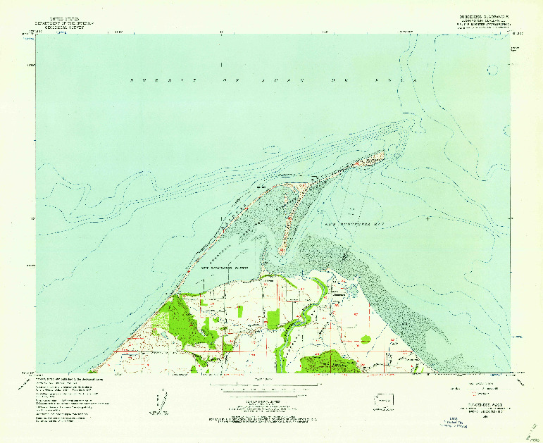 USGS 1:24000-SCALE QUADRANGLE FOR DUNGENESS, WA 1956