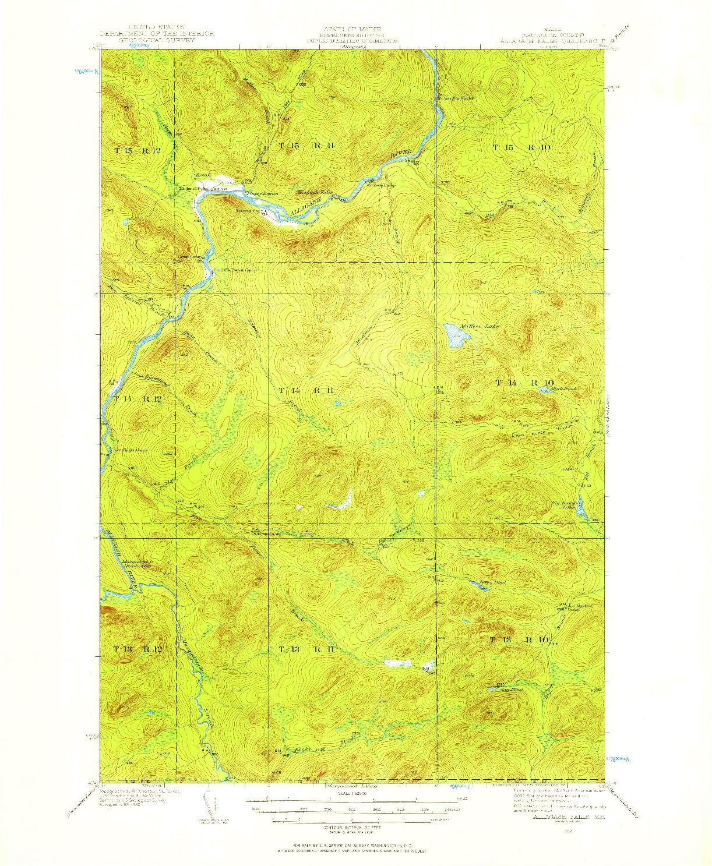 USGS 1:62500-SCALE QUADRANGLE FOR ALLAGASH FALLS, ME 1932