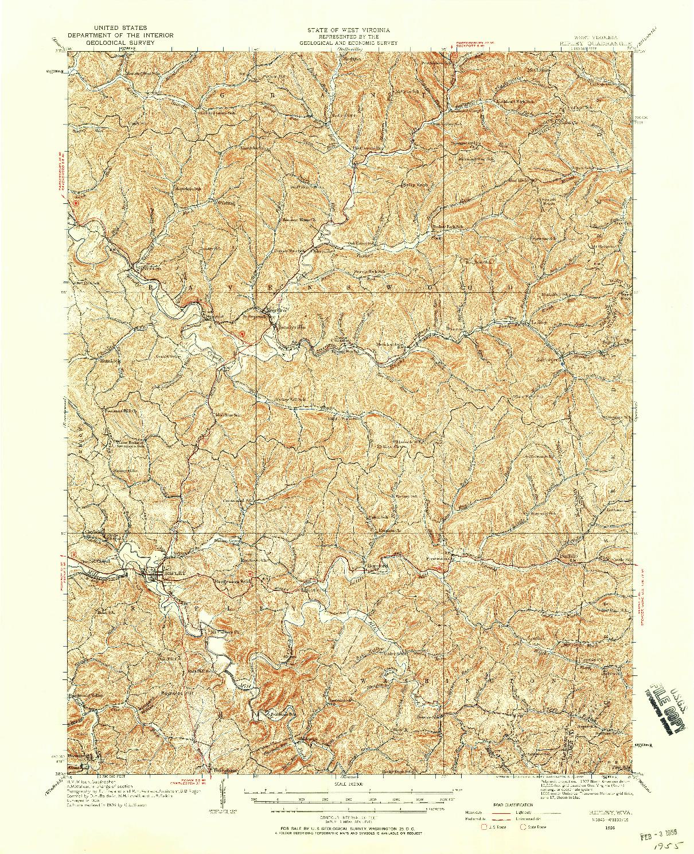 USGS 1:62500-SCALE QUADRANGLE FOR RIPLEY, WV 1926