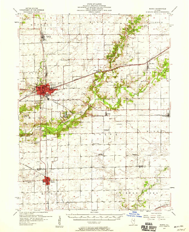 USGS 1:62500-SCALE QUADRANGLE FOR MAROA, IL 1957