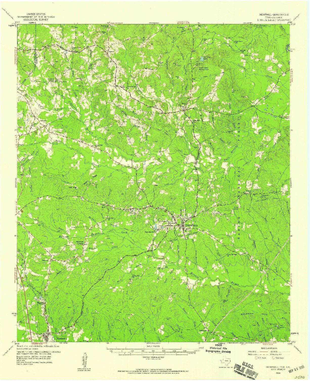 USGS 1:62500-SCALE QUADRANGLE FOR HEMPHILL, TX 1958
