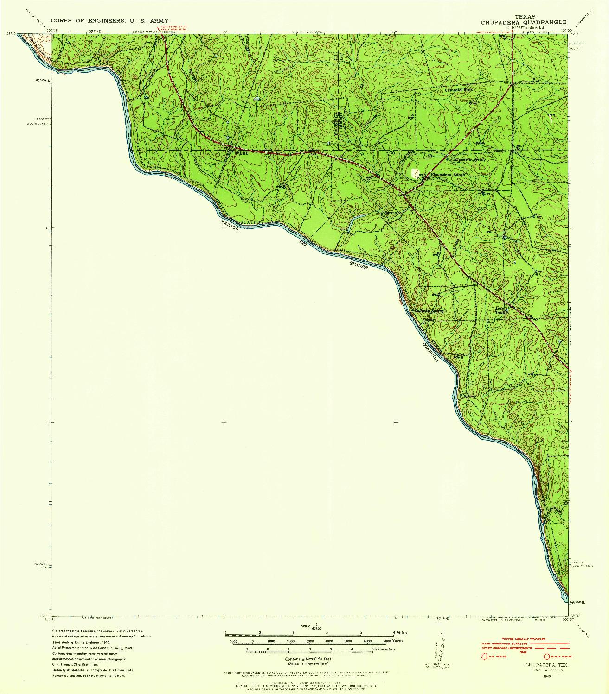 USGS 1:62500-SCALE QUADRANGLE FOR CHUPADERA, TX 1940