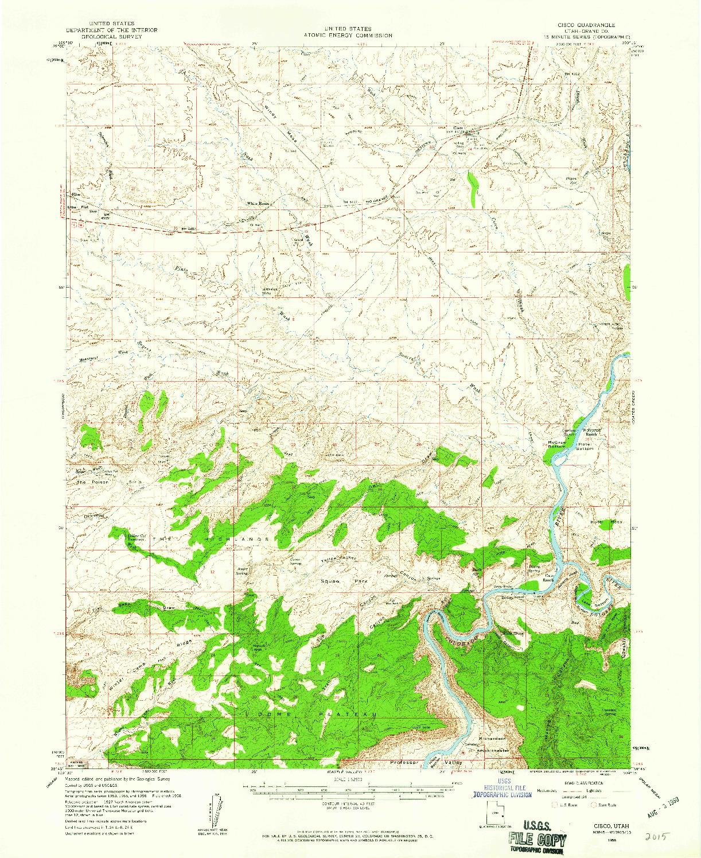 USGS 1:62500-SCALE QUADRANGLE FOR CISCO, UT 1958