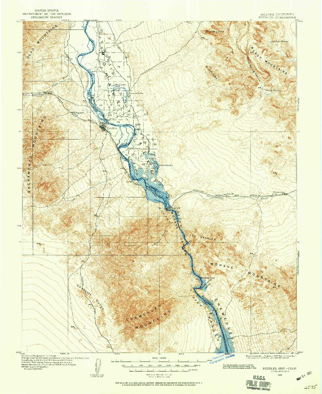 USGS 1:125000-SCALE QUADRANGLE FOR NEEDLES, AZ 1903