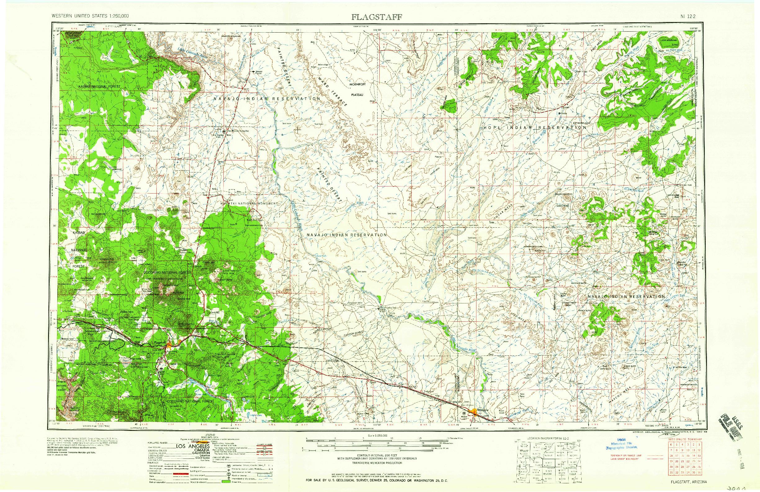 USGS 1:250000-SCALE QUADRANGLE FOR FLAGSTAFF, AZ 1960