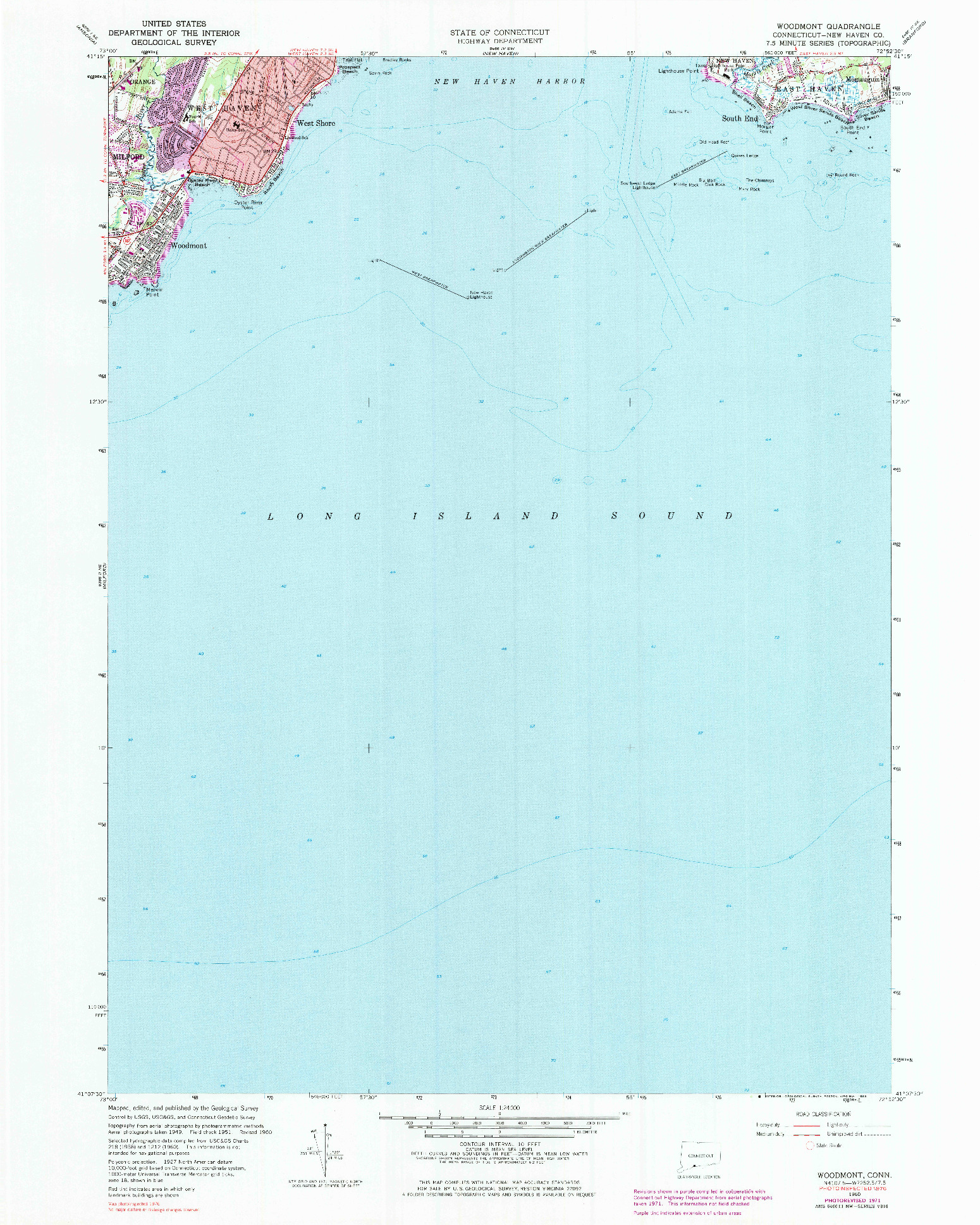 USGS 1:24000-SCALE QUADRANGLE FOR WOODMONT, CT 1960