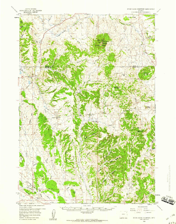 USGS 1:62500-SCALE QUADRANGLE FOR INYAN KARA MOUNTAIN, WY 1958