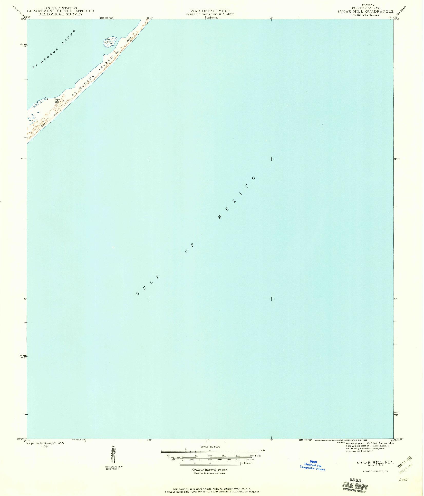 USGS 1:24000-SCALE QUADRANGLE FOR SUGAR HILL, FL 1945