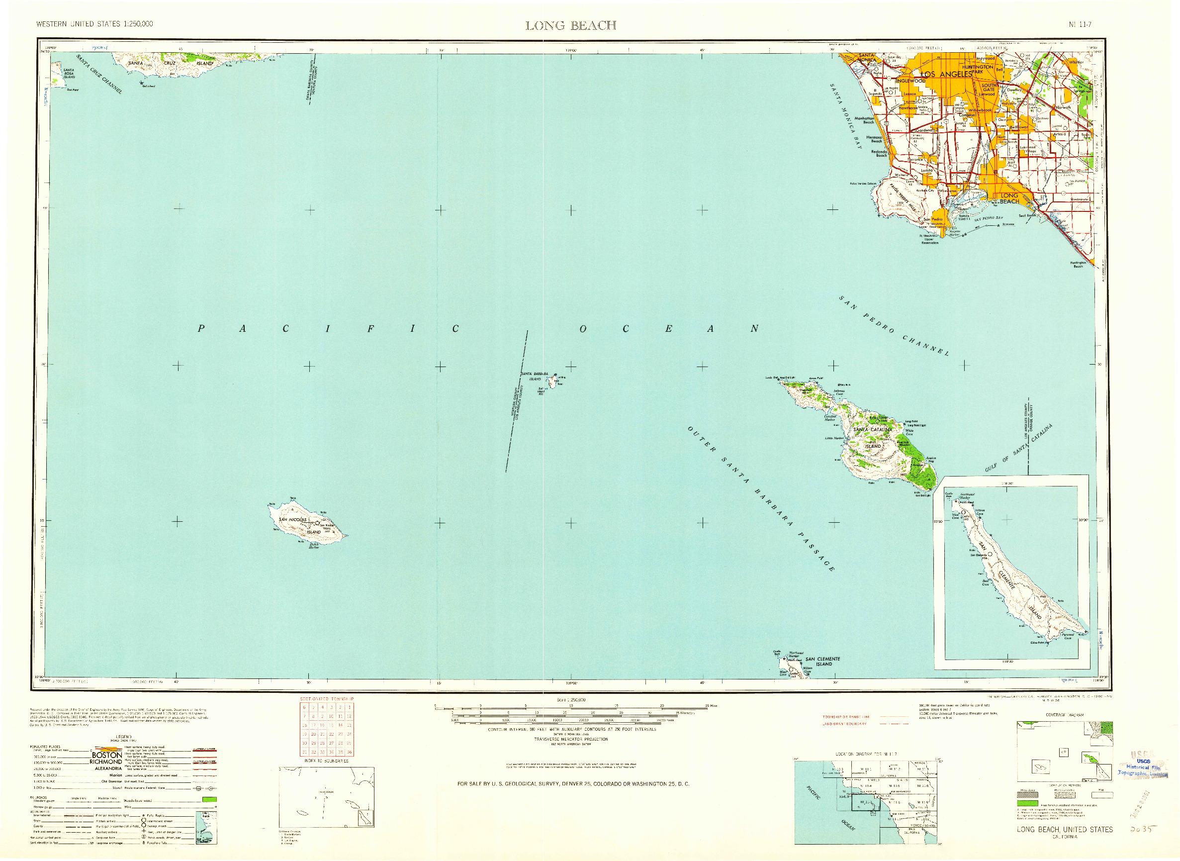 USGS 1:250000-SCALE QUADRANGLE FOR LONG BEACH, CA 1960