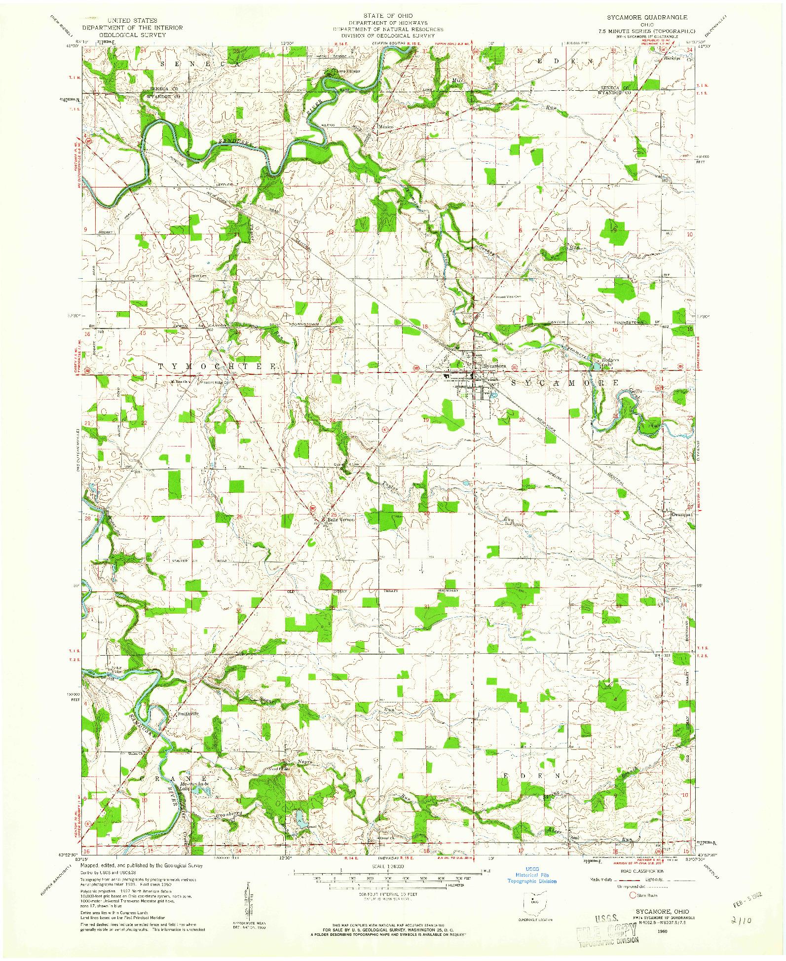 USGS 1:24000-SCALE QUADRANGLE FOR SYCAMORE, OH 1960