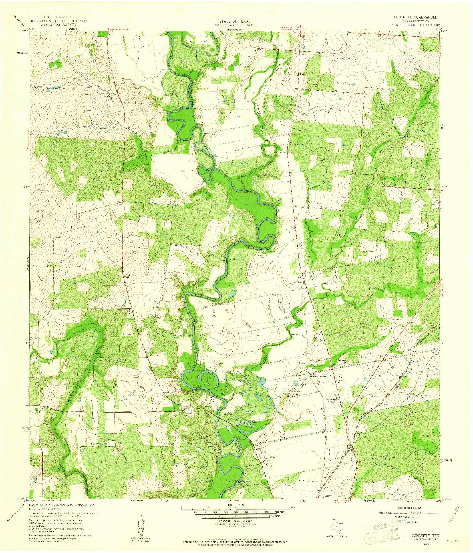 USGS 1:24000-SCALE QUADRANGLE FOR CONCRETE, TX 1960