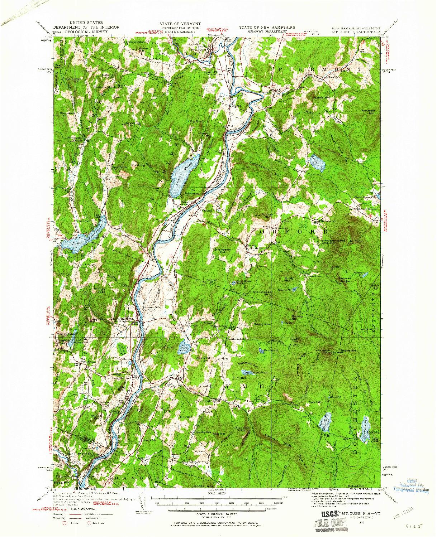 USGS 1:62500-SCALE QUADRANGLE FOR MT. CUBE, NH 1931