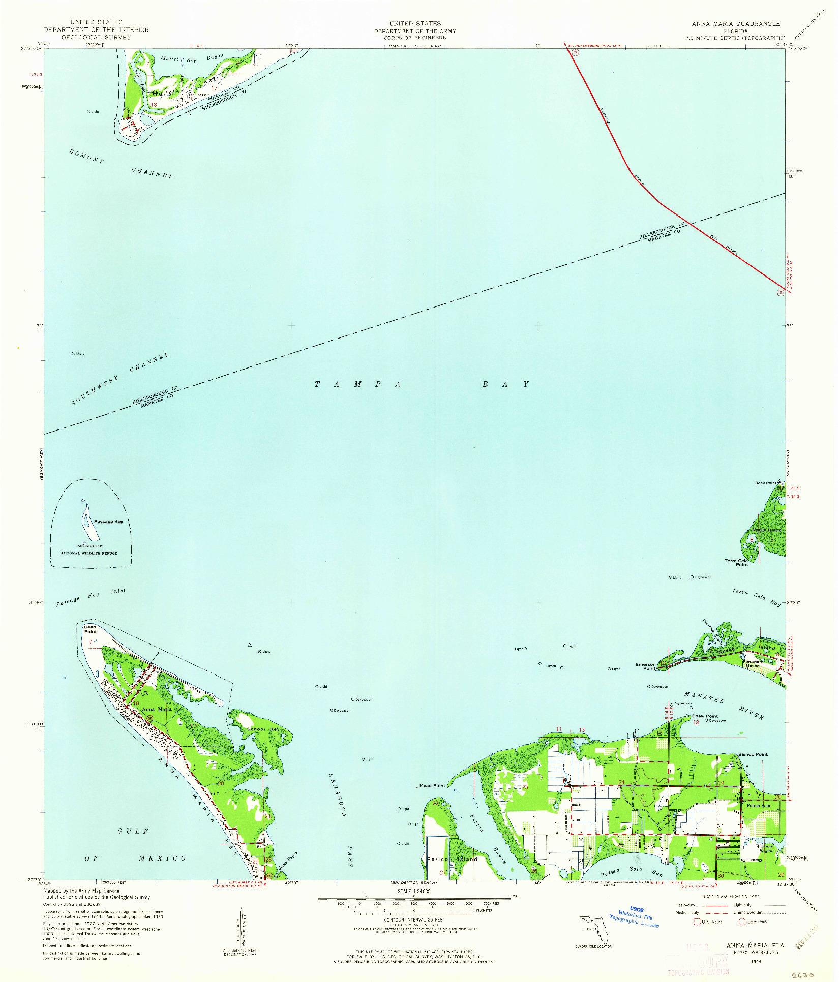 USGS 1:24000-SCALE QUADRANGLE FOR ANNA MARIA, FL 1944