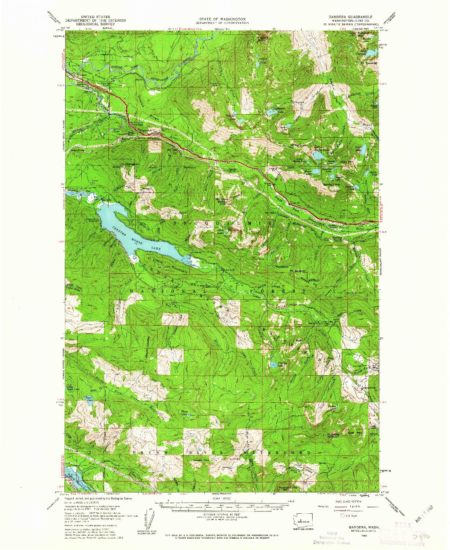 USGS 1:62500-SCALE QUADRANGLE FOR BANDERA, WA 1960