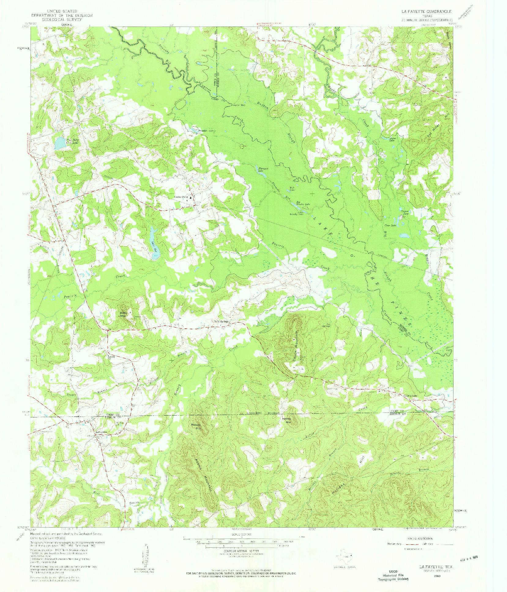 USGS 1:24000-SCALE QUADRANGLE FOR LA FAYETTE, TX 1960