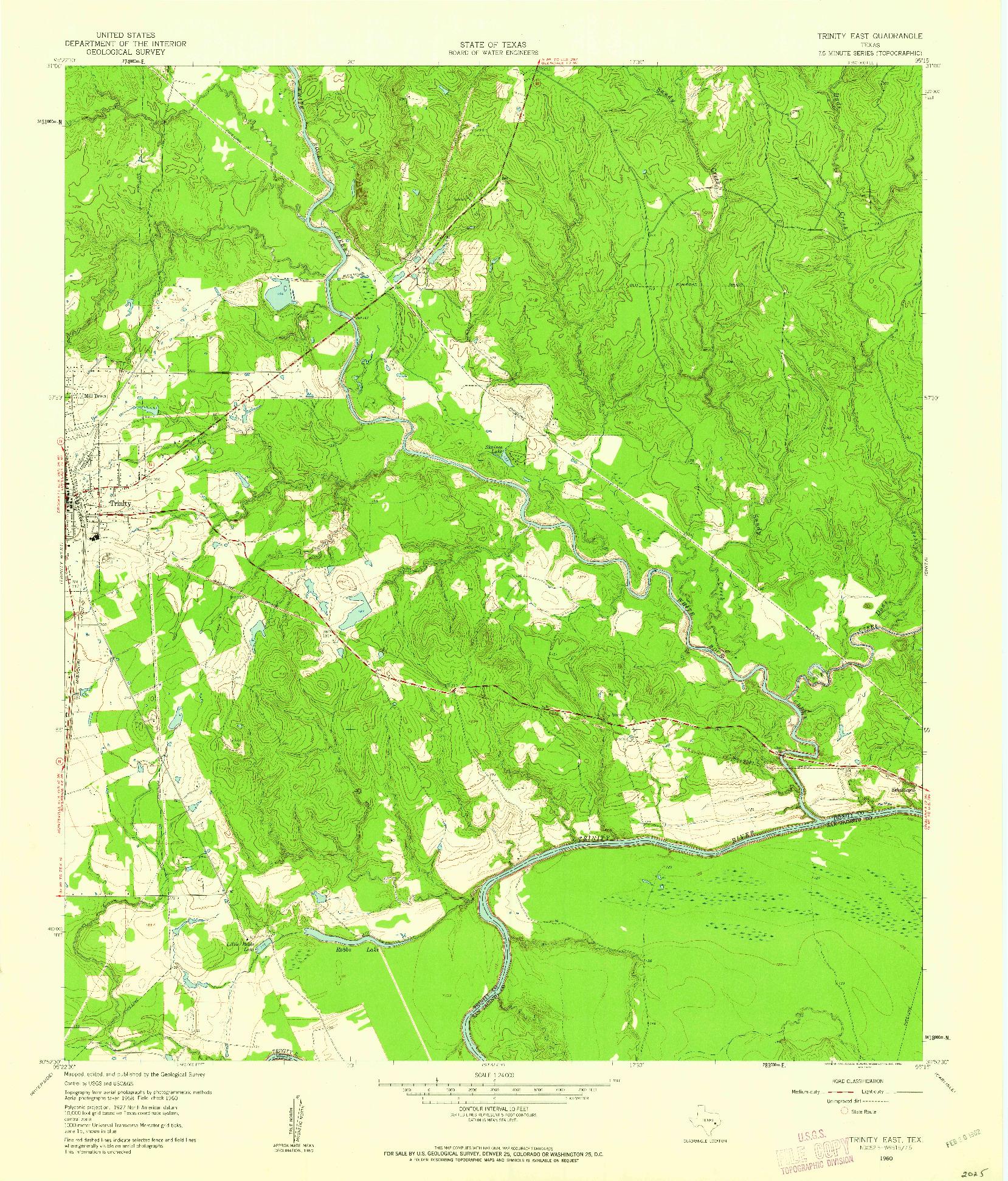 USGS 1:24000-SCALE QUADRANGLE FOR TRINITY EAST, TX 1960