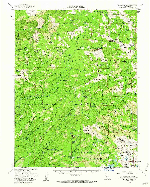 USGS 1:62500-SCALE QUADRANGLE FOR GRANITE CHIEF, CA 1953