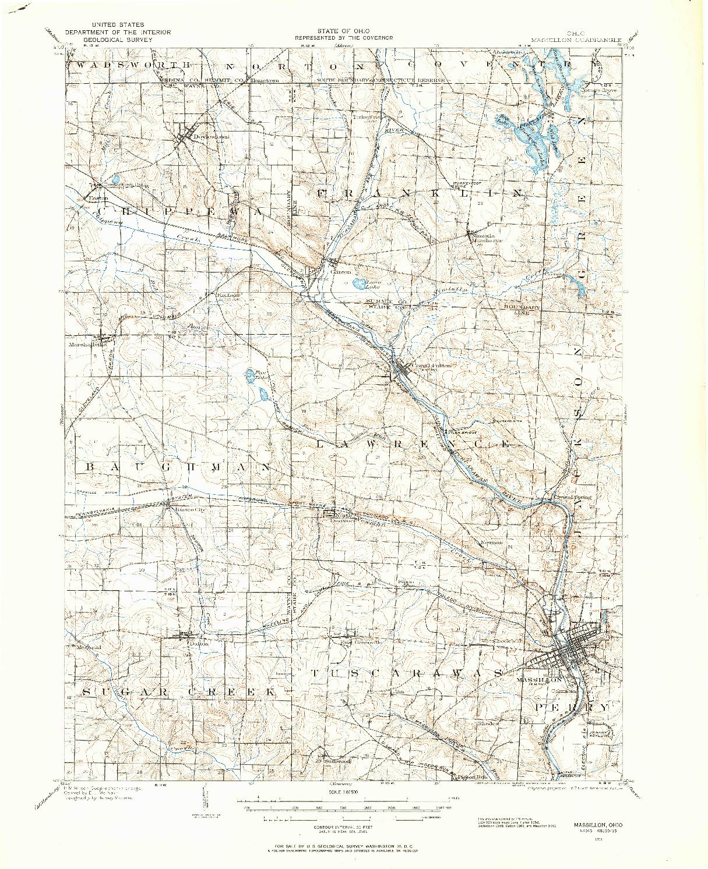 USGS 1:62500-SCALE QUADRANGLE FOR MASSILLON, OH 1901