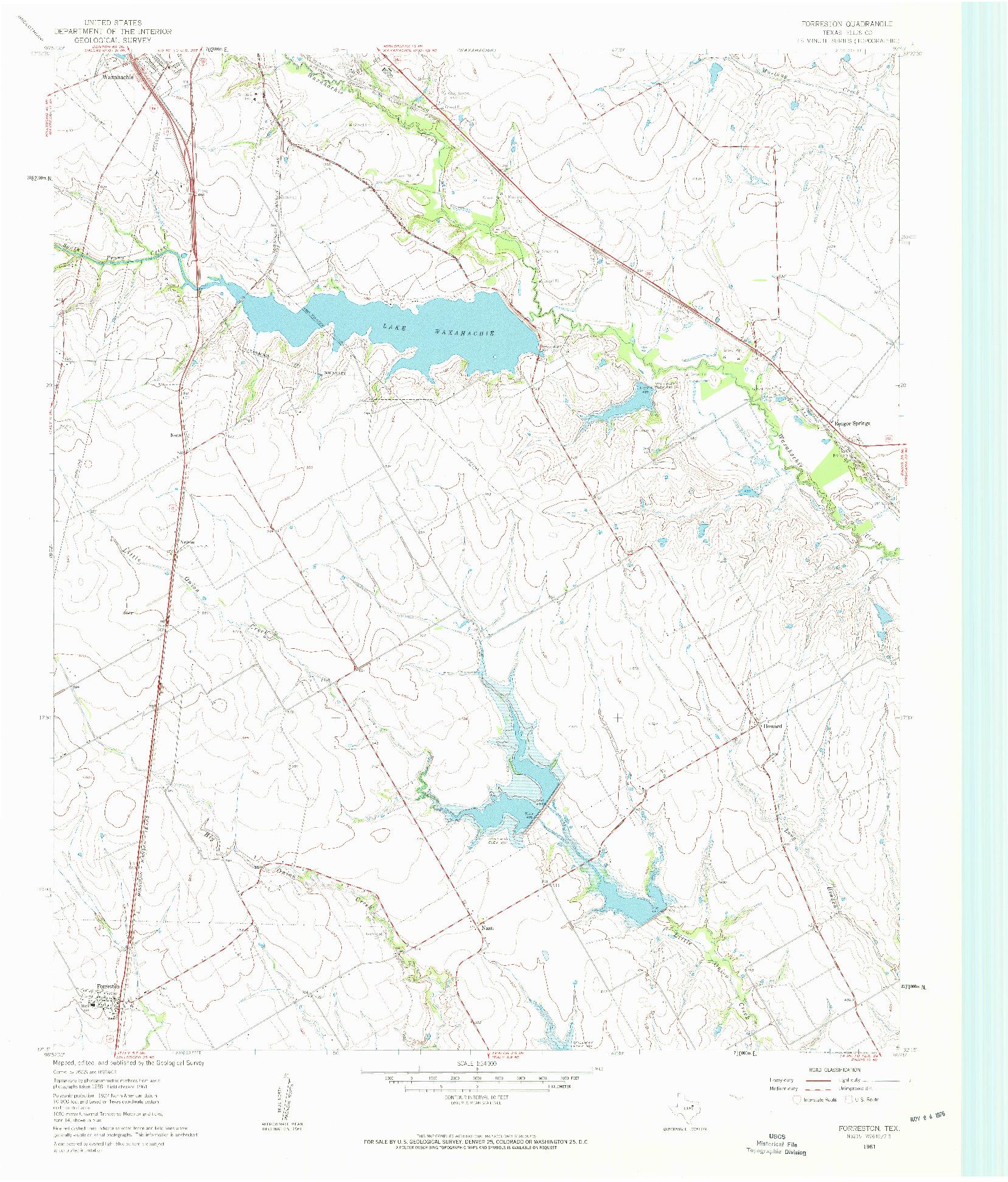 USGS 1:24000-SCALE QUADRANGLE FOR FORRESTON, TX 1961
