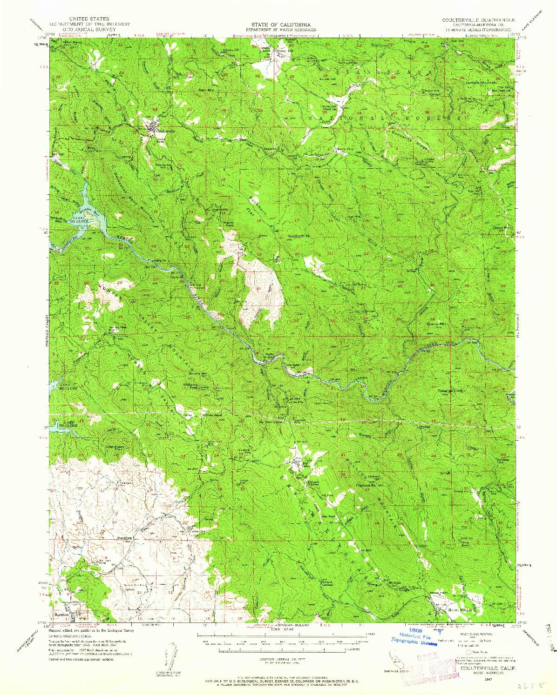 USGS 1:62500-SCALE QUADRANGLE FOR COULTERVILLE, CA 1947
