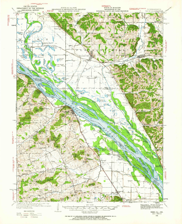 USGS 1:62500-SCALE QUADRANGLE FOR NEBO, IL 1934