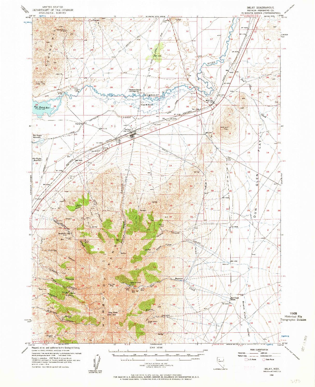 USGS 1:62500-SCALE QUADRANGLE FOR IMLAY, NV 1956