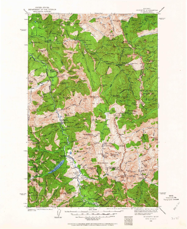 USGS 1:125000-SCALE QUADRANGLE FOR SILVERTIP, MT 1936