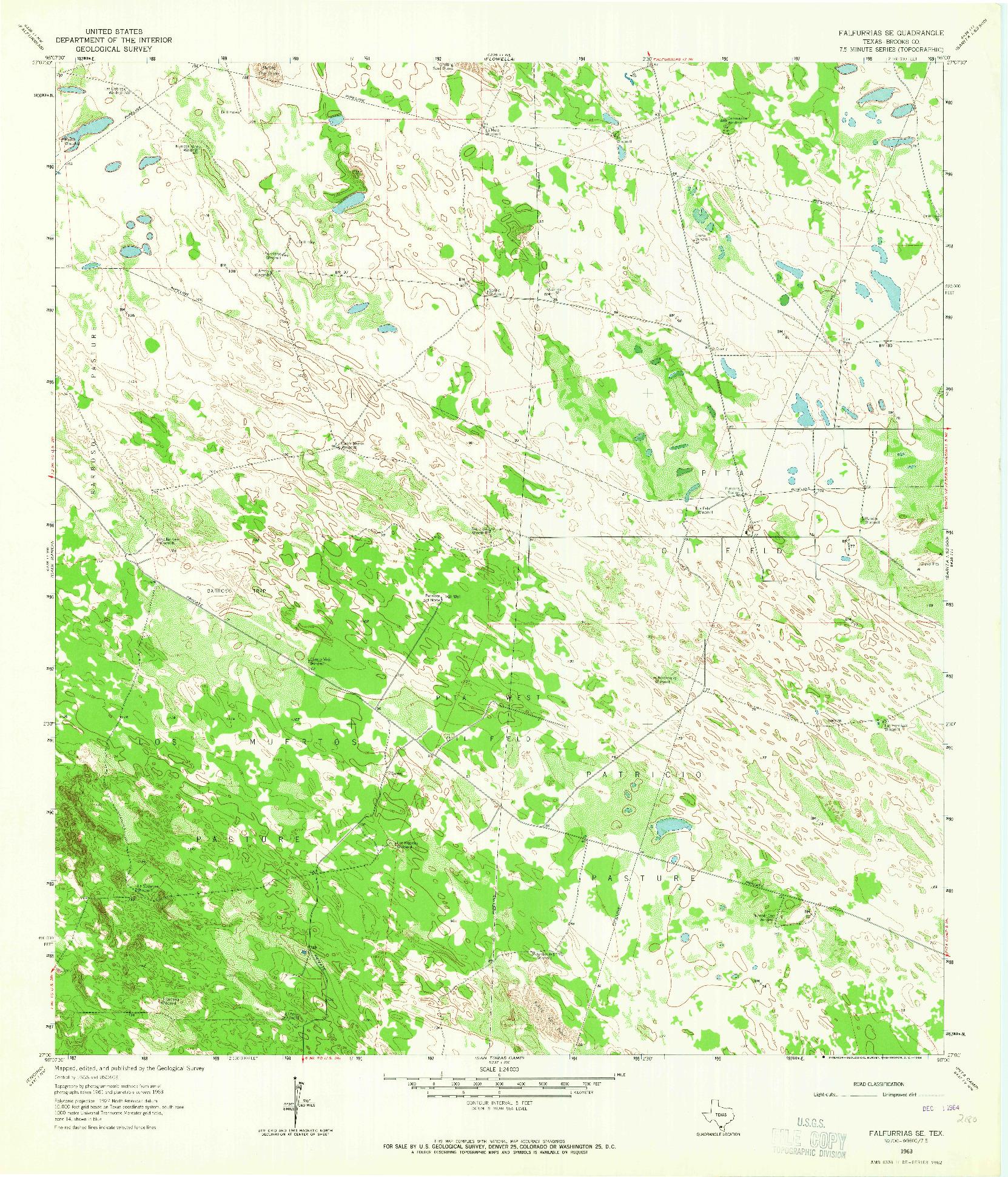 USGS 1:24000-SCALE QUADRANGLE FOR FALFURRIAS SE, TX 1963