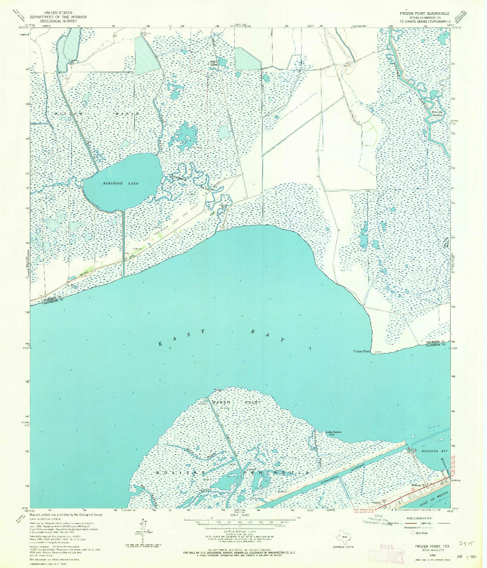 USGS 1:24000-SCALE QUADRANGLE FOR FROZEN POINT, TX 1962