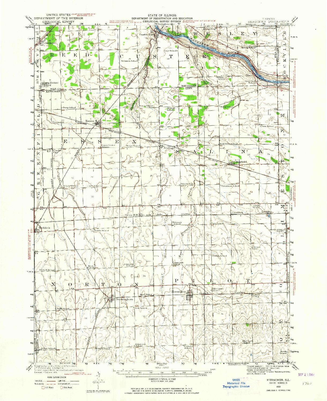 USGS 1:62500-SCALE QUADRANGLE FOR HERSCHER, IL 1923
