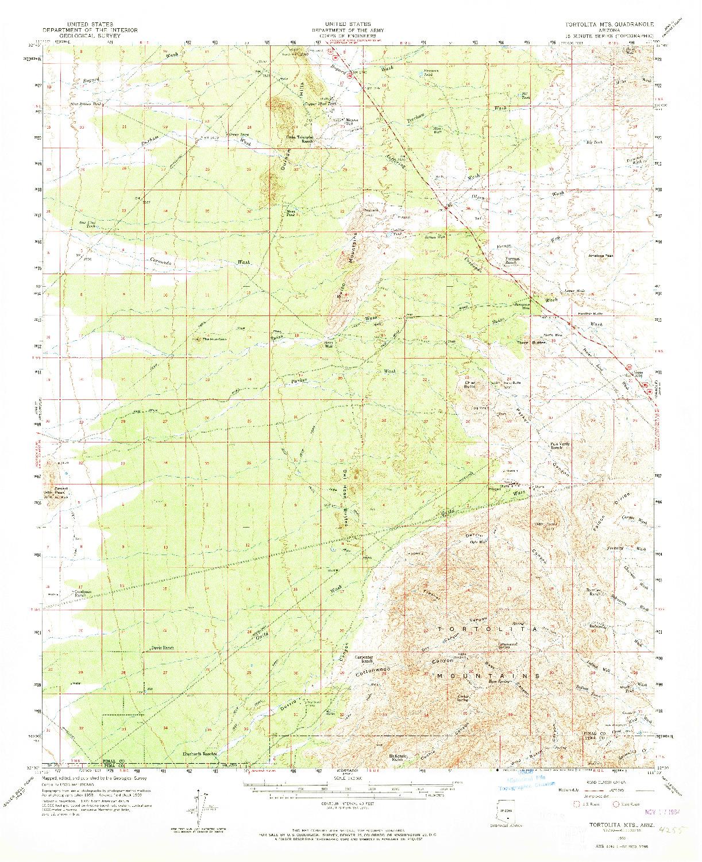 USGS 1:62500-SCALE QUADRANGLE FOR TORTOLITA MTS, AZ 1959