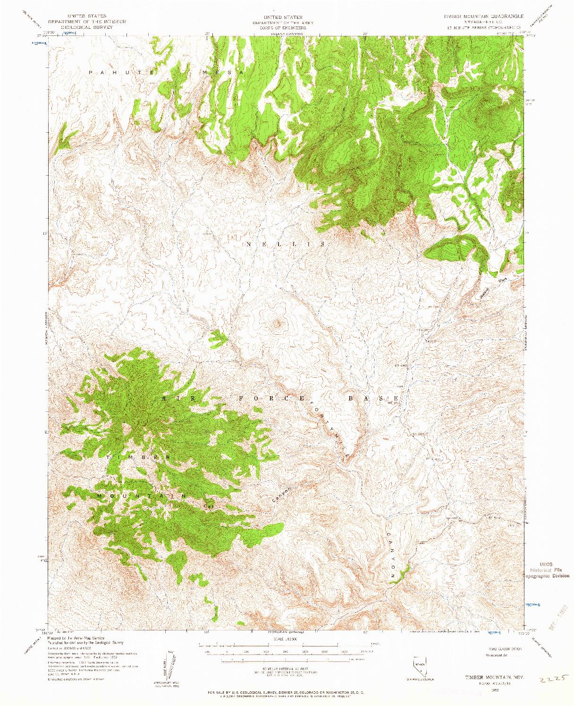 USGS 1:62500-SCALE QUADRANGLE FOR TIMBER MOUNTAIN, NV 1952