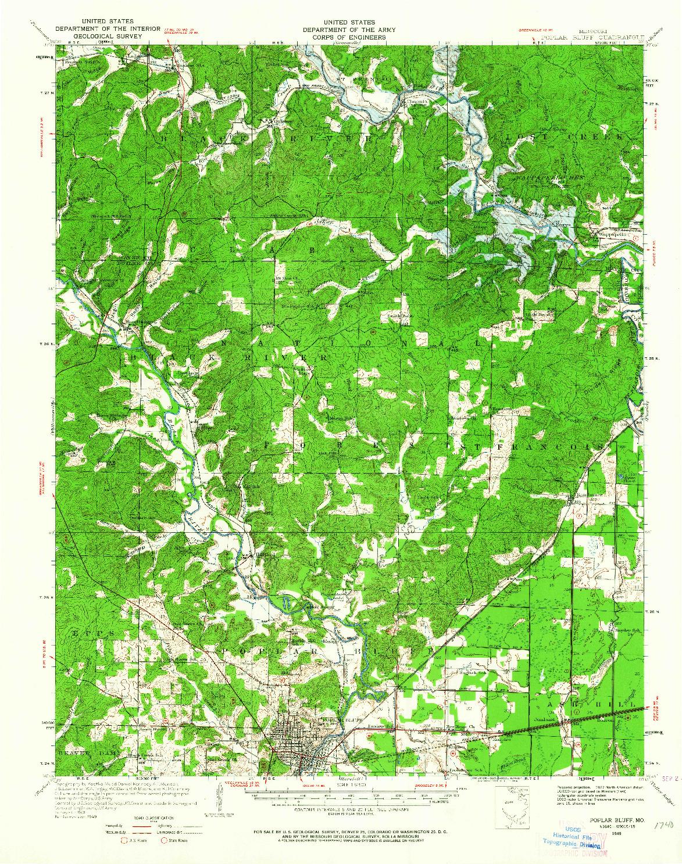 USGS 1:62500-SCALE QUADRANGLE FOR POPLAR BLUFF, MO 1949